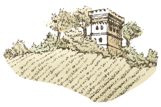 Chateau and field sketch